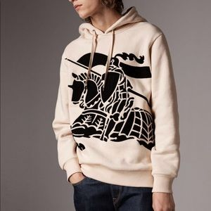 7879cf34325f5 Burberry Sweaters - Burberry Equestrian Knight Cotton Hoodie